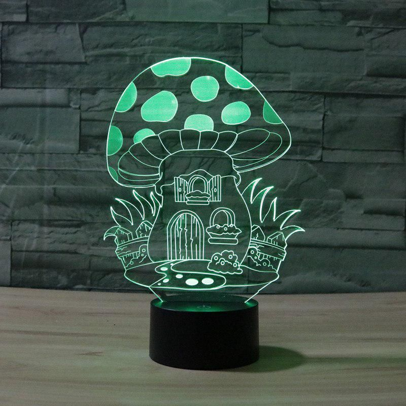 3d Atmosphere Lamp 7 Color Changing Visual Illusion Led Decor Lamp Mushroom 2 Home Table Decoration For Chil 3d Night Light 3d Optical Illusions Led Night Lamp