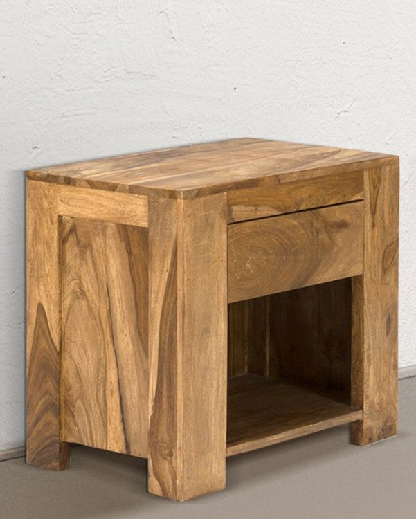 Nachttisch Robustus 55x35 Palisander Teak Massiv Holz Finish Möbel