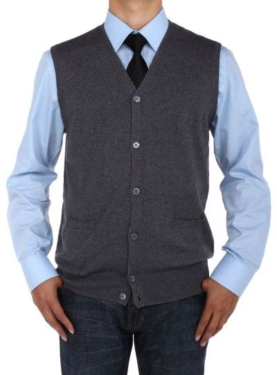 Don't miss the great chance! Discount Offers Relaxed Fit Buttoned Sweater Vest, Premium Quality & available Colors: Black, Charcoal, Light Gray, Navy Luciano Natazzi Men's Buttoned Cotton Sweater Vest Relaxed Fit Charcoal