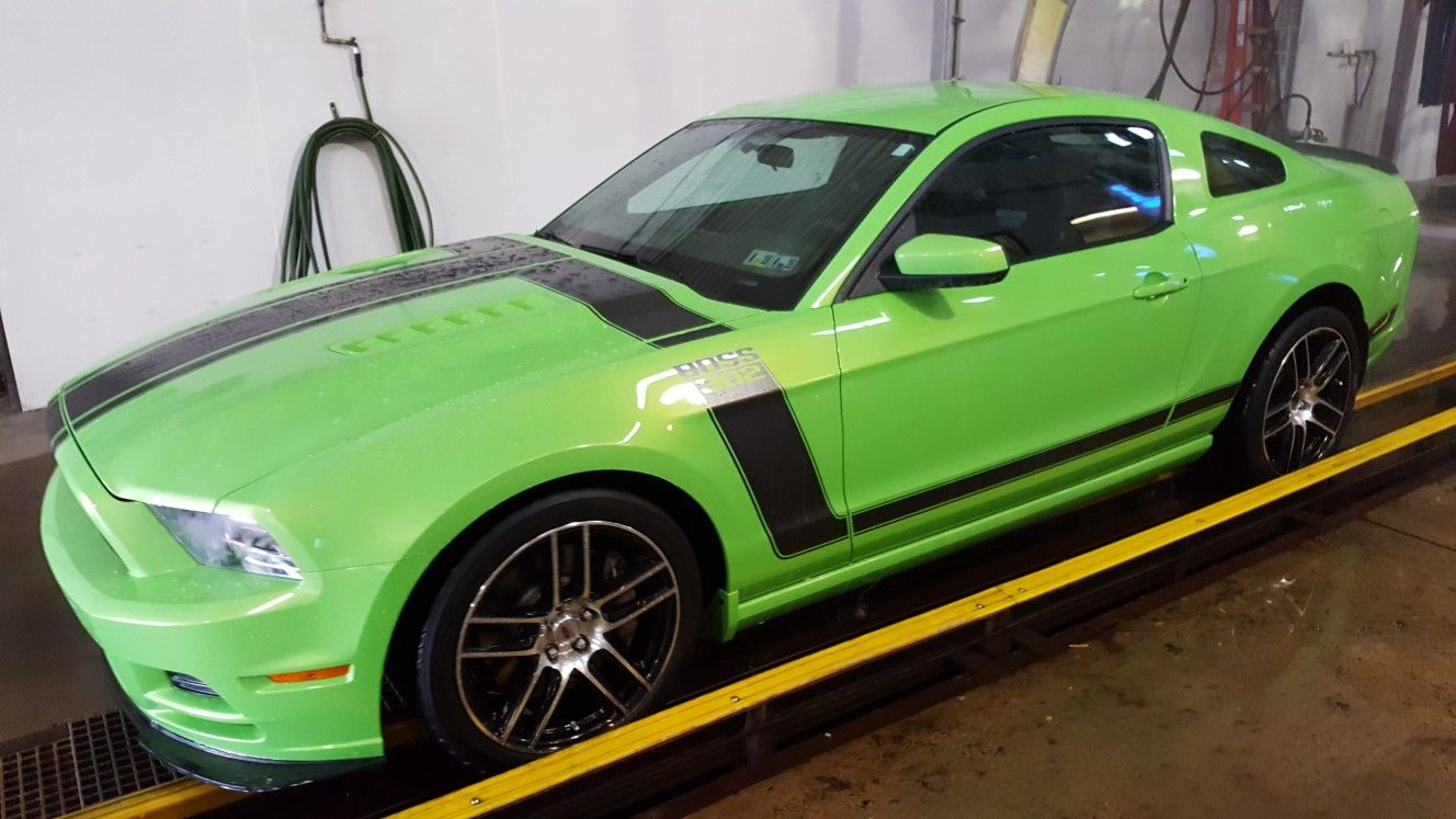 2013 ford mustang boss 302 in gotta have it green with laguna seca wheels scott
