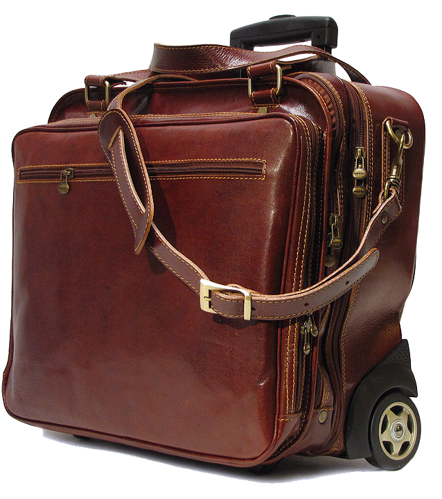 6e68f40692de The Monticello Rolling Men's Leather Briefcase Bag by Floto is one of the  most stylish,