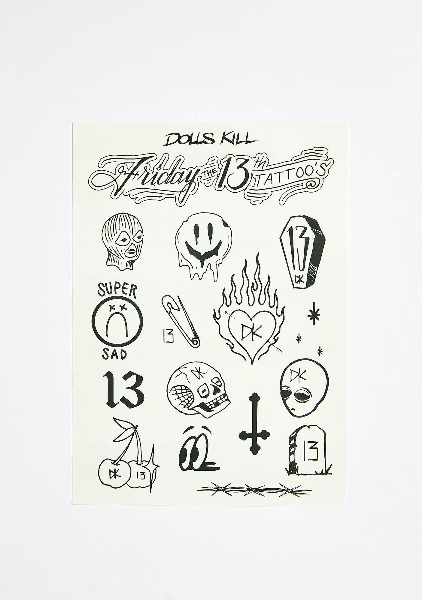 Friday The 13th Flash Tattoos