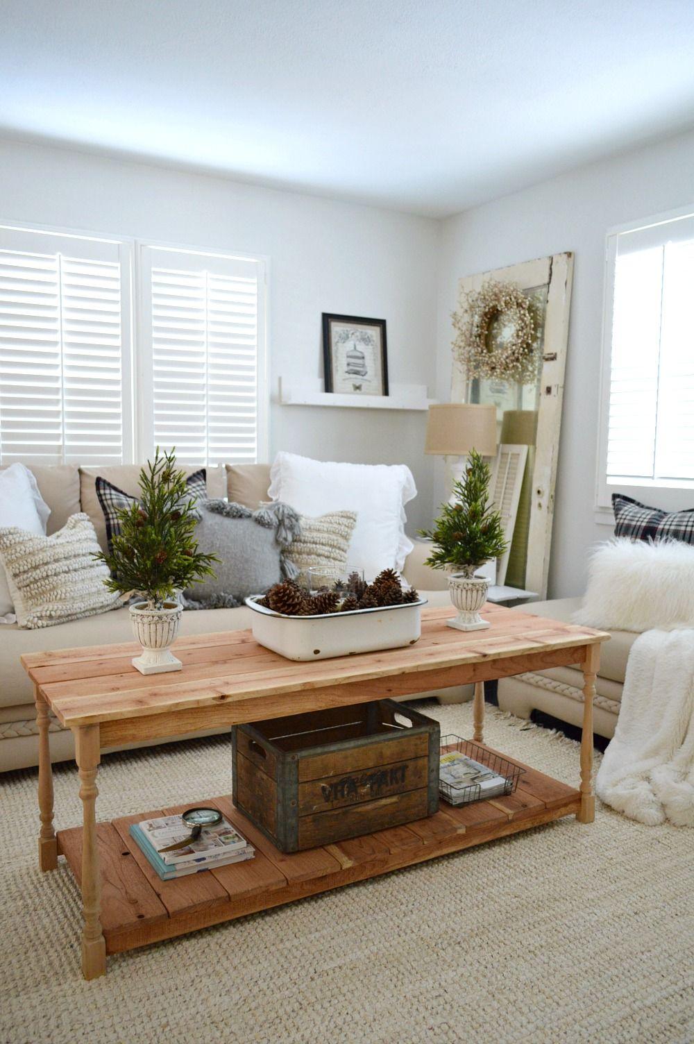 Cozy cottage farmhouse winter decorating ideas coffee
