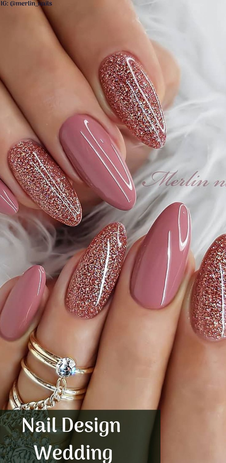 Nail Art Design Wedding Sparkly Nails Ideal For Valentine S Day With Beautiful Design Nageldesign Gel Nagellack Nagelideen Nageldesign