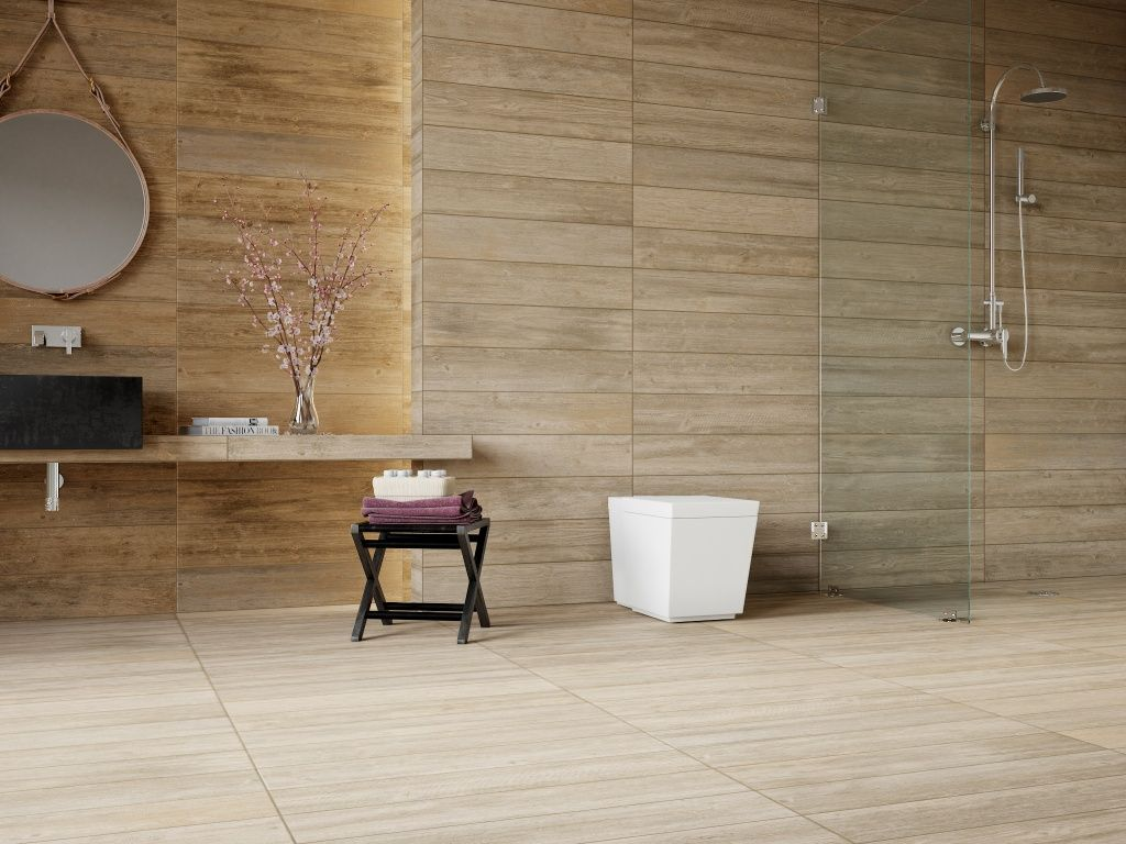 foto de Interceramic USA Sunwood Pro in both Cowboy Brown and Legend Beige Interceramic Hogar