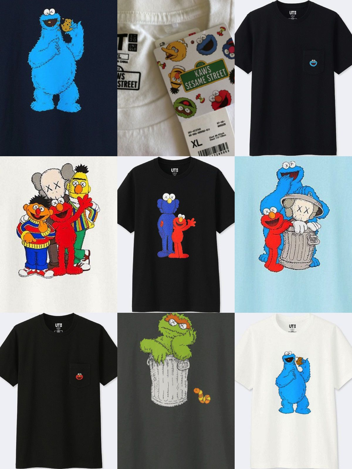 0b59620c30a Details about Uniqlo KAWS - SESAME ST - Limited Edition - New with ...