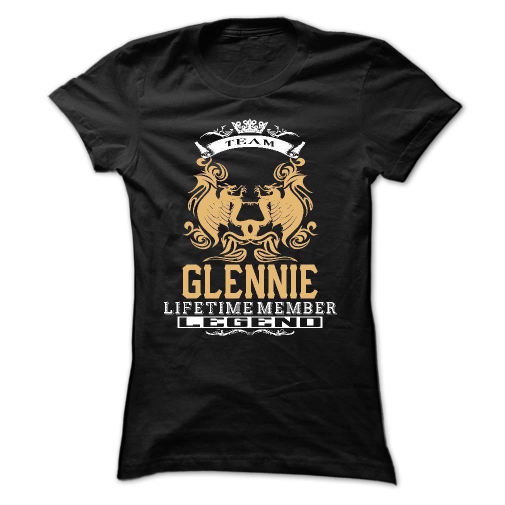 GLENNIE . Team GLENNIE Lifetime member Legend  - T Shirt, Hoodie, Hoodies, Year,Name, Birthday