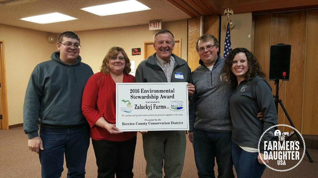 Our family farm was awarded the 2016 Environmental Stewardship Award from the Berrien County Conservation District!