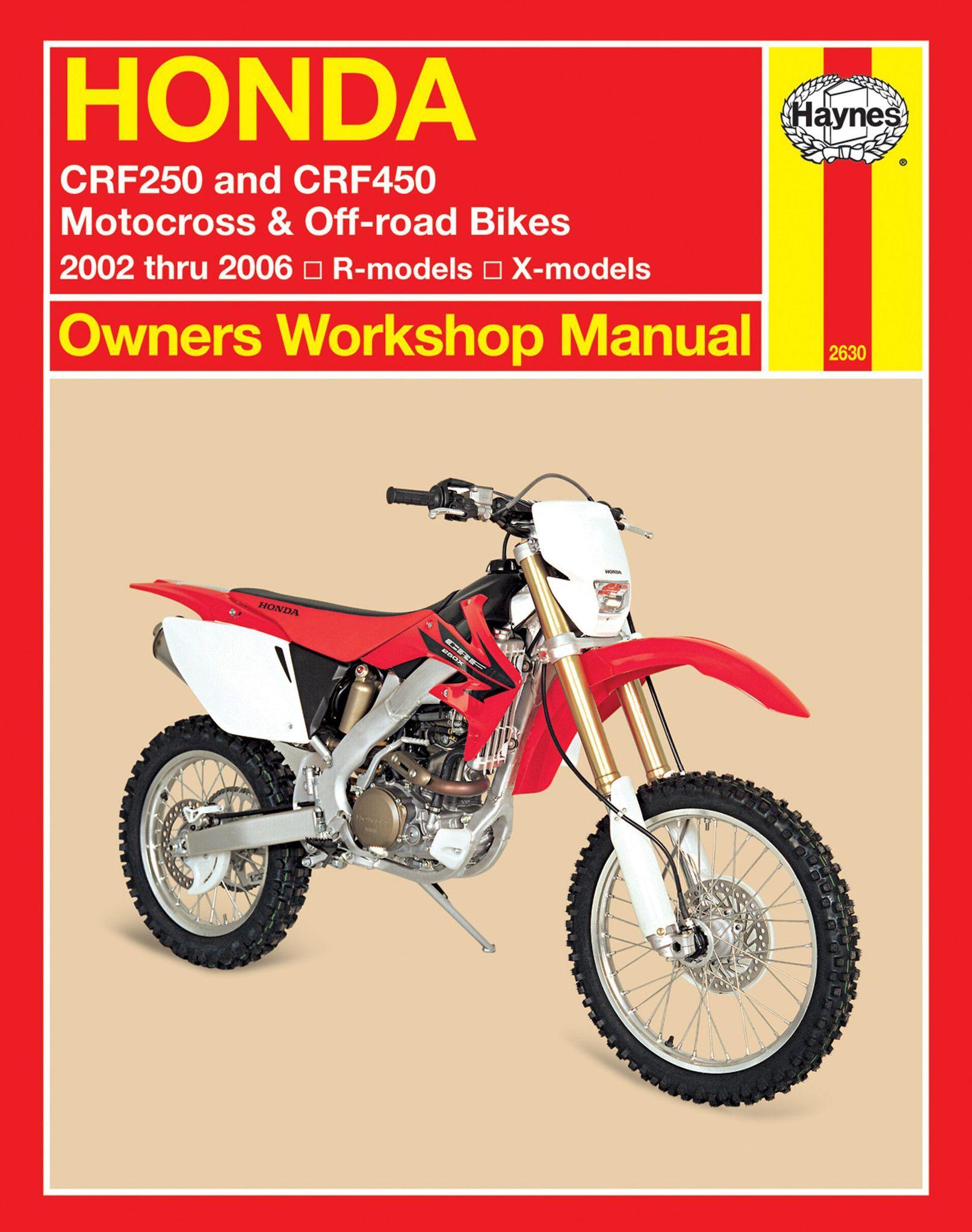 Haynes M2630 Repair Manual for 2004-06 Honda CRF250R / CRF250X / CRF450R /  CRF450X