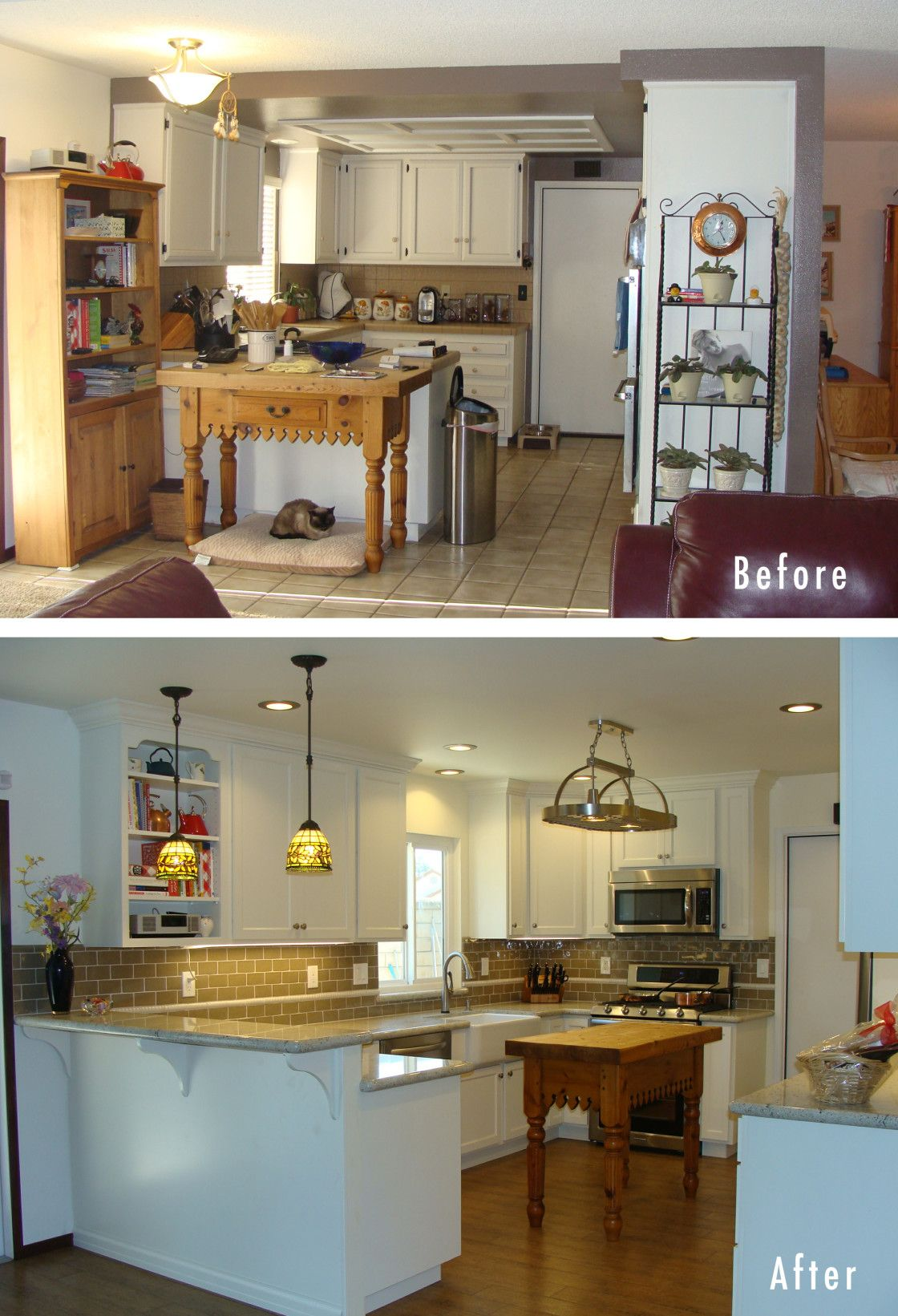 Beautiful Kitchen Remodel Before And After With Featuring Kitchen Before  Remodel Modest Space And Kitchen After