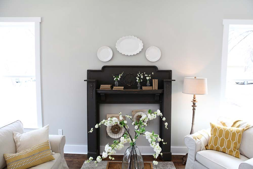 Fixer upper paint colors fireplaces and grey - Hgtv living room paint colors ...
