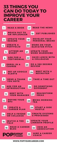 33 Things You Can Do Today To Improve Your Career Career Advice