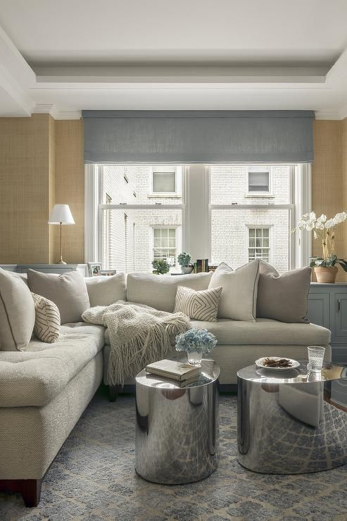 Best Cozy And Classy This Gray Tufted Sectional Is Dressed 640 x 480