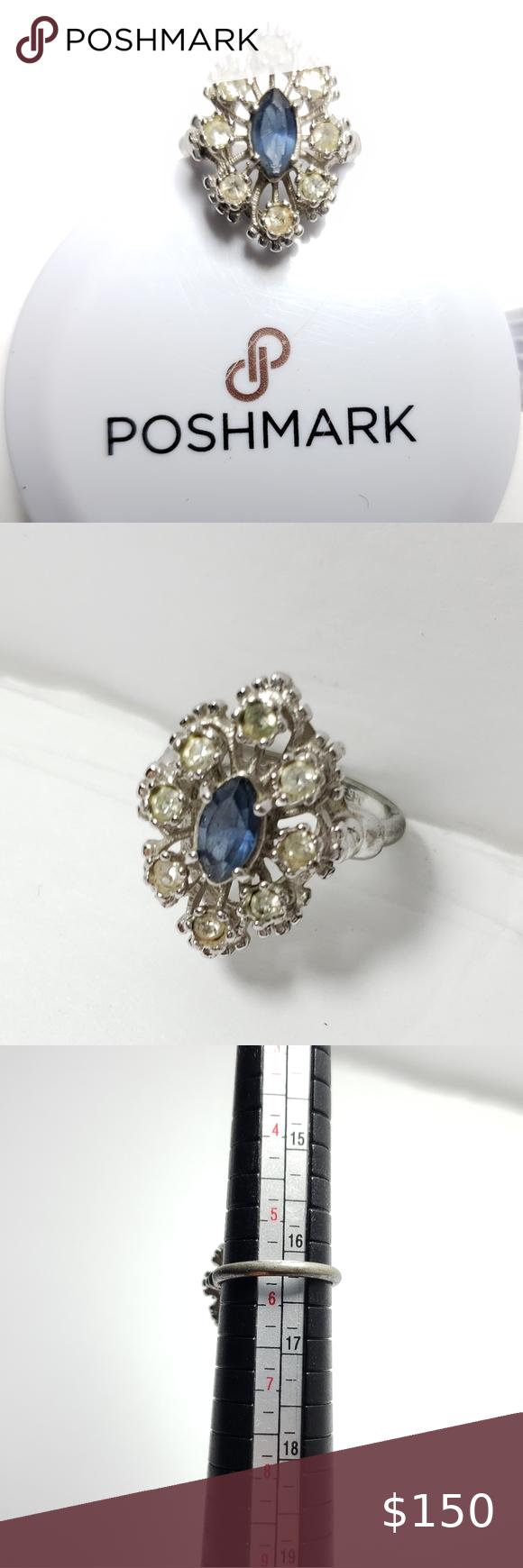 18k Hge Espo Vintage Ring Gorgeous A7 Jewelry Rings Womens Jewelry Rings Vintage Rings Jewelry