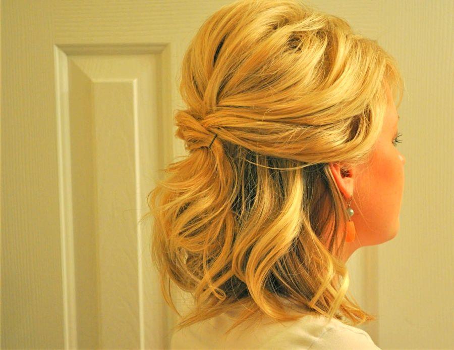 Half Updo For Short Hair Google Search Short Hair Lengths Short Wedding Hair Up Dos For Medium Hair