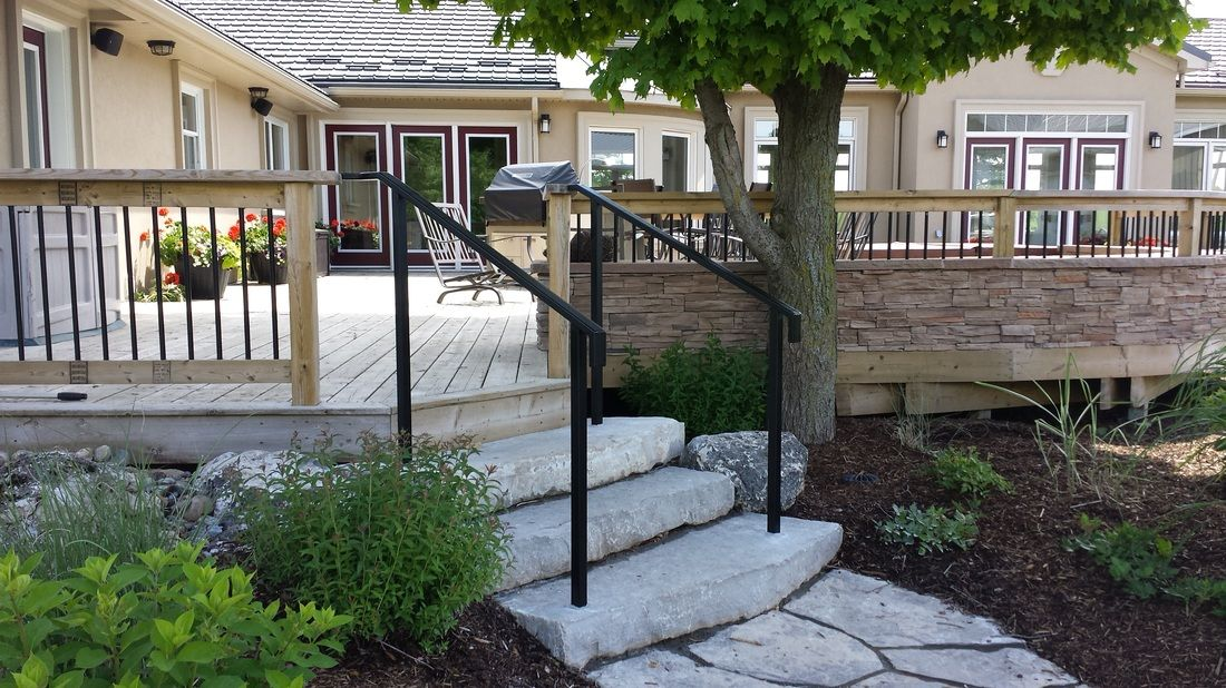 Stainless Steel Railing For Front Steps Google Search Sloped Garden Stair Railing Metal | Installing Railing On Stone Steps