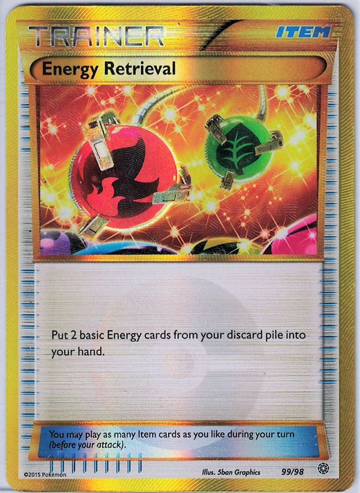 Energy retrieval secret rare pokemon trainer card ancient