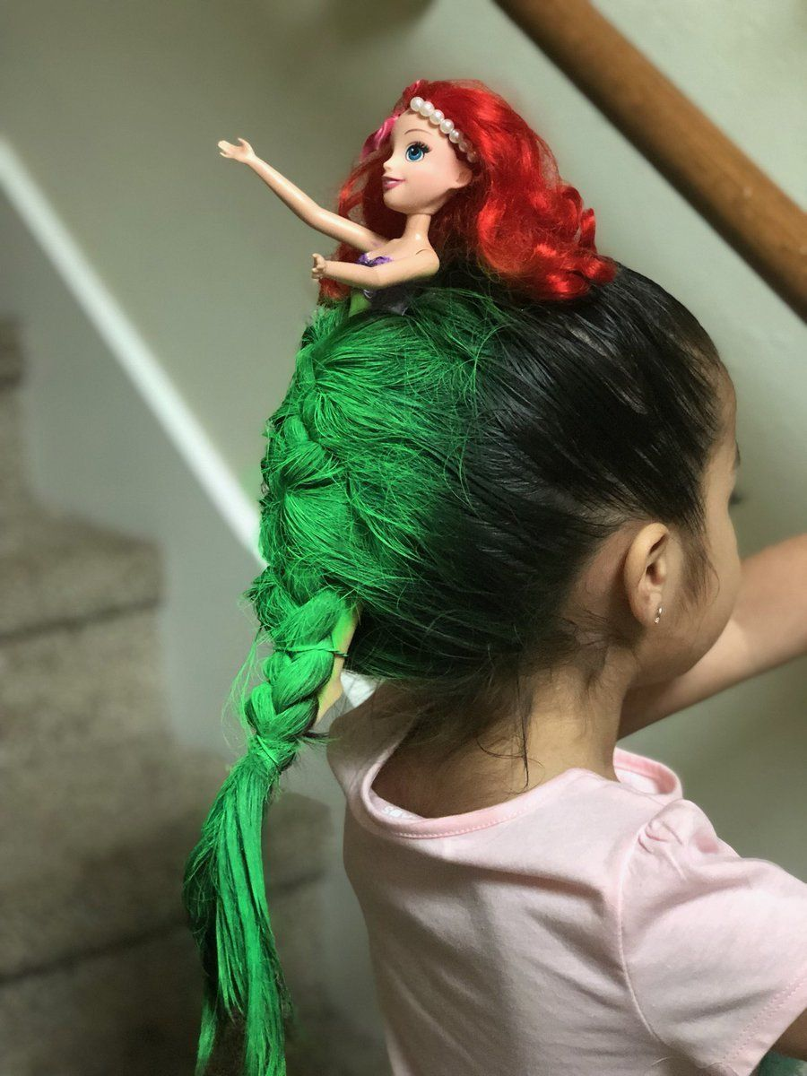 "Tatafomaster: Little girl wins school's ""Crazy Hair Day"" after s..."