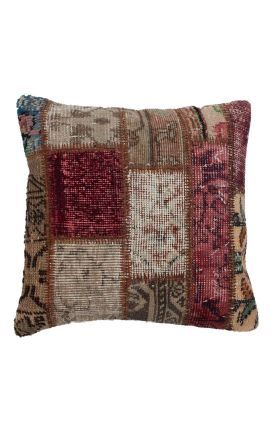 Rugs Usa Multi Hazan Decorative Over Dyed Patchwork Pillow