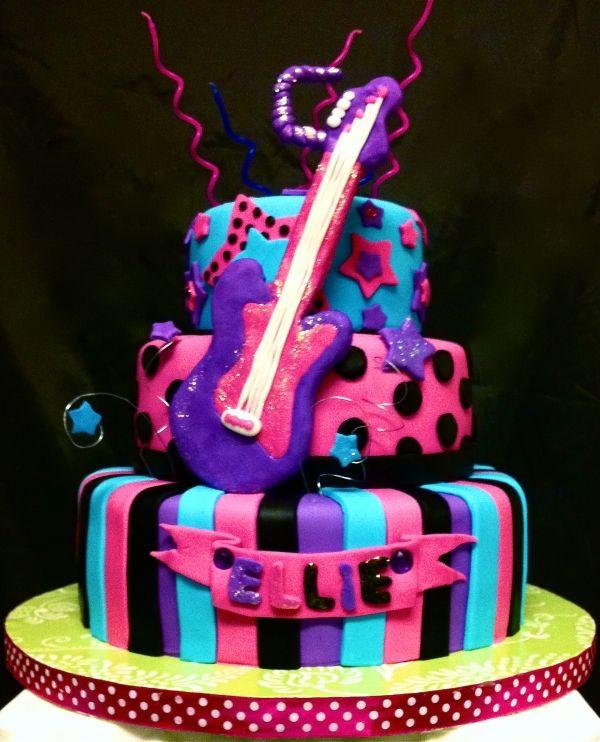 Stupendous Rock Star Birthday Cake Rock Star Cakes Funny Birthday Cards Online Kookostrdamsfinfo