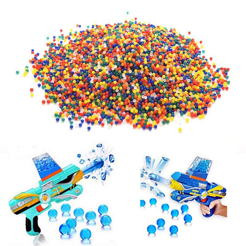 20000 개 다채로운 크리스탈 총알 부드러운 물 총 페인트 총알 Bibulous 총알 Orbeez 총 장난감 액세서리 권총 총
