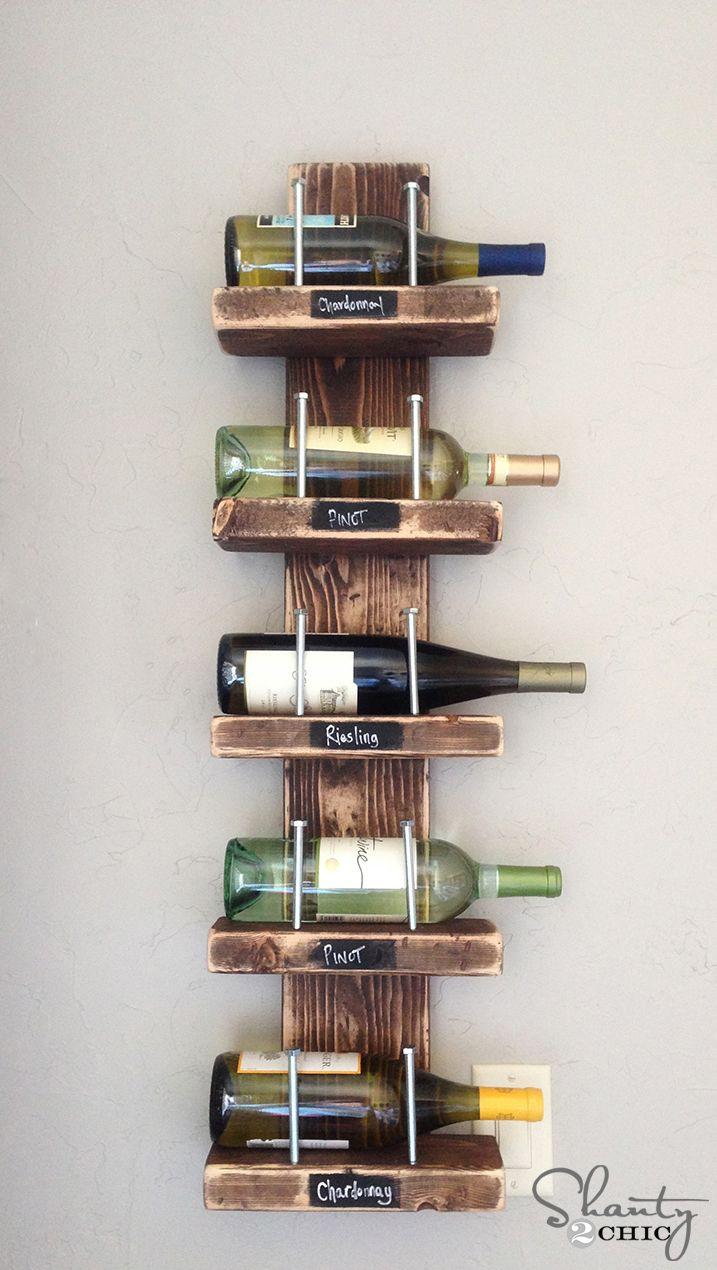 Organized Wine Holder project shot | Home decor | Pinterest