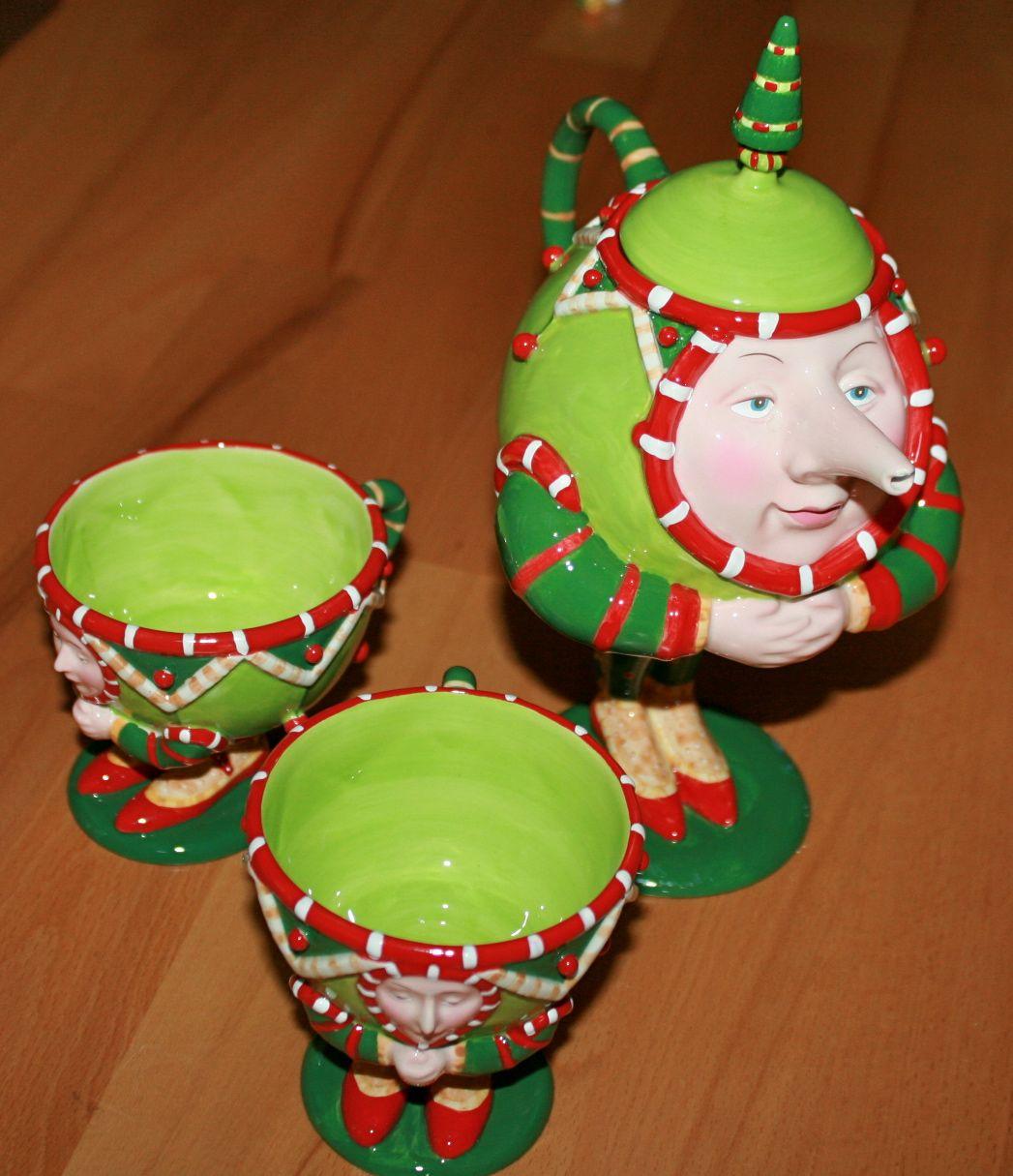 Teekanne und Tassen von Krinkles