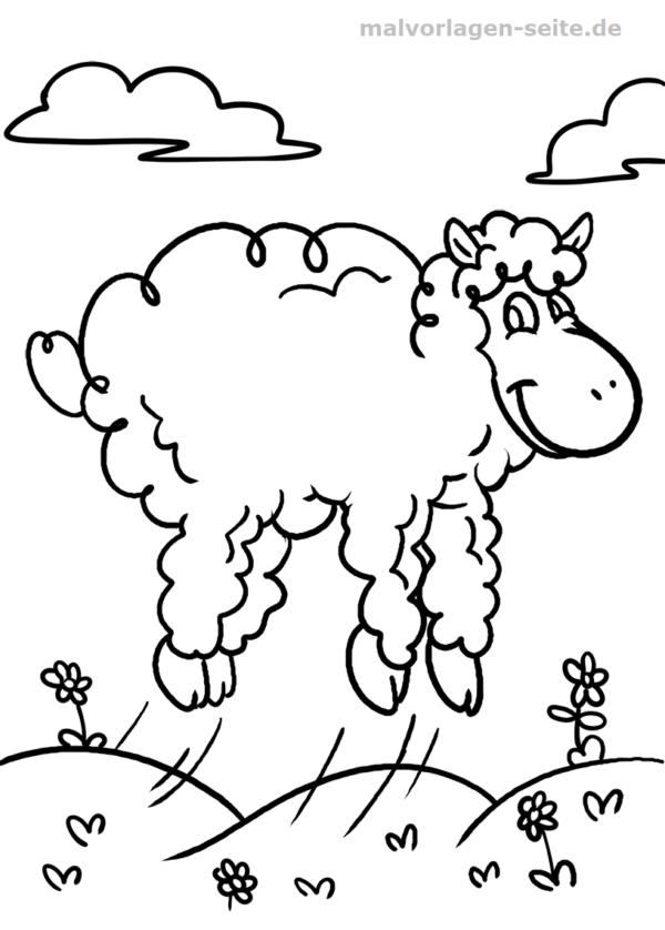 Malvorlage Schaf Tiere Malvorlagen Vorlagen Ausmalbilder
