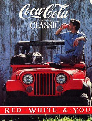 Jeep and Coca Cola Classic....