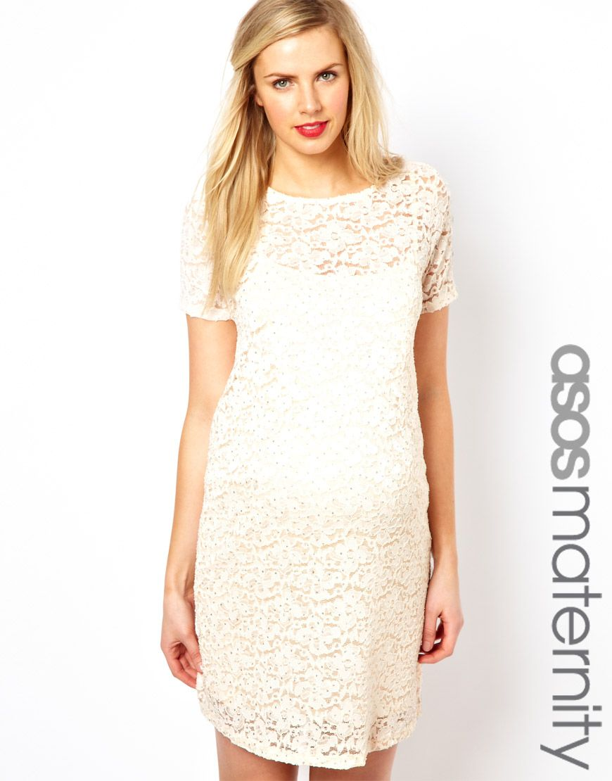 Asos maternity shift dress in lace with sparkle detail what to asos maternity shift dress in lace with sparkle detail ombrellifo Gallery