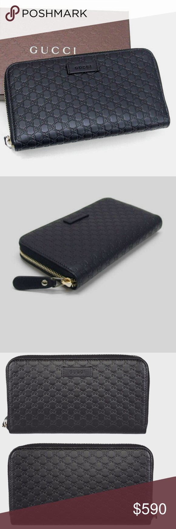 0dbb559a8b20 NWT GUCCI MicroGuccissima Leather Wallet 449391 100% Authentic New In Box  Gucci Micro GG Guccissima