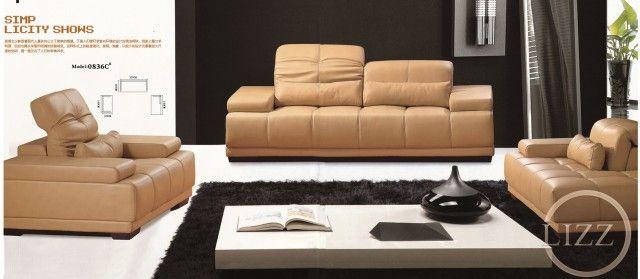 Genuine Leather Lizz Sofa L.BZ0836C - China Lizz Furniture ...