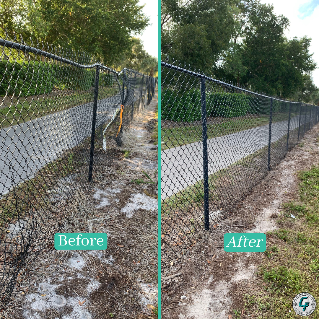 Before After In 2020 Chain Link Fence Fencing Companies Chain Link