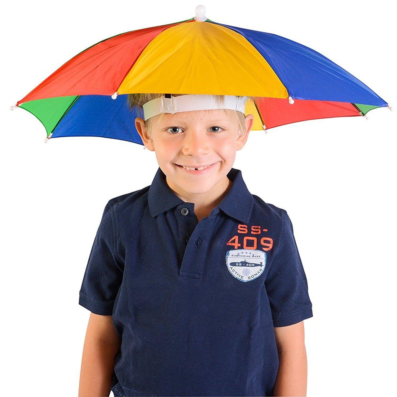 51115e912f8 Amazon.com  Umbrella Hat - Fishing Umbrella Hat for Kids and Adults -  Elastic