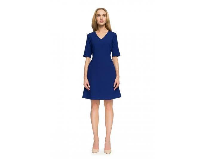 Clea Kleid mit V-Ausschnitt ,Farbe: Königsblau, Größe: 40 Jetzt ...