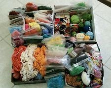 Large Mixed Lot Vintage Yarn/Rug Yarn Mostly Cut ~ Multiple Rainbow of Colors