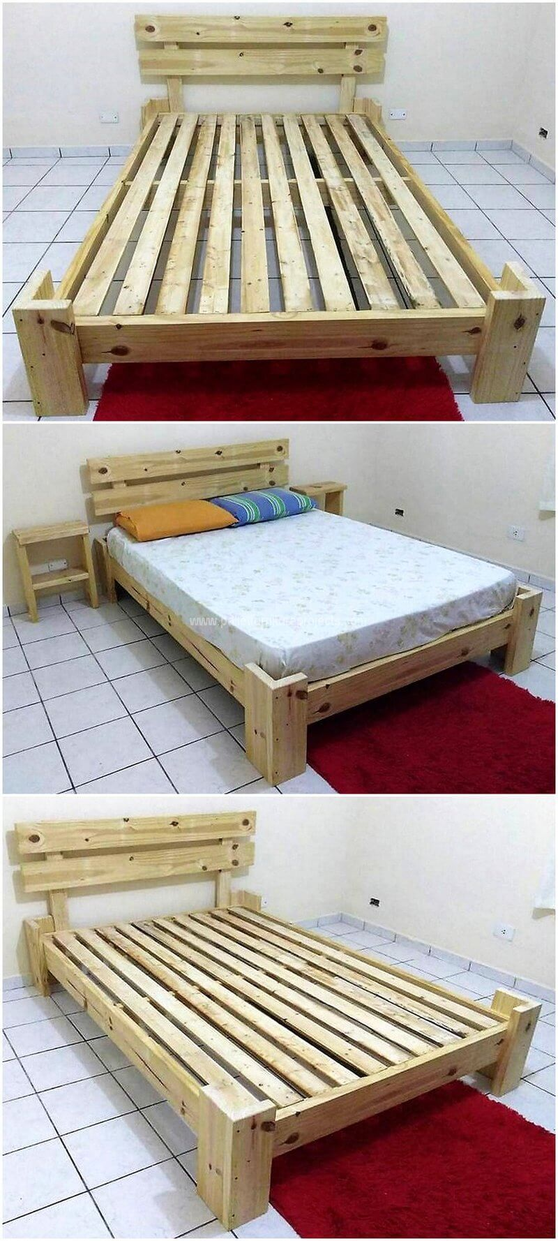 Awesome Wooden Pallets Recycling Ideas Pallet Projects Furniture Wooden Pallet Beds Wood Pallet Beds