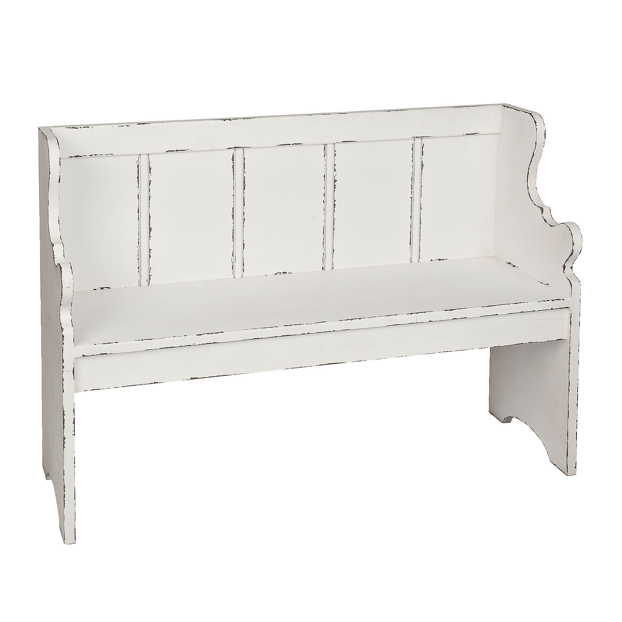Admirable Product Details Distressed Ivory Pew Bench In 2019 Bench Andrewgaddart Wooden Chair Designs For Living Room Andrewgaddartcom