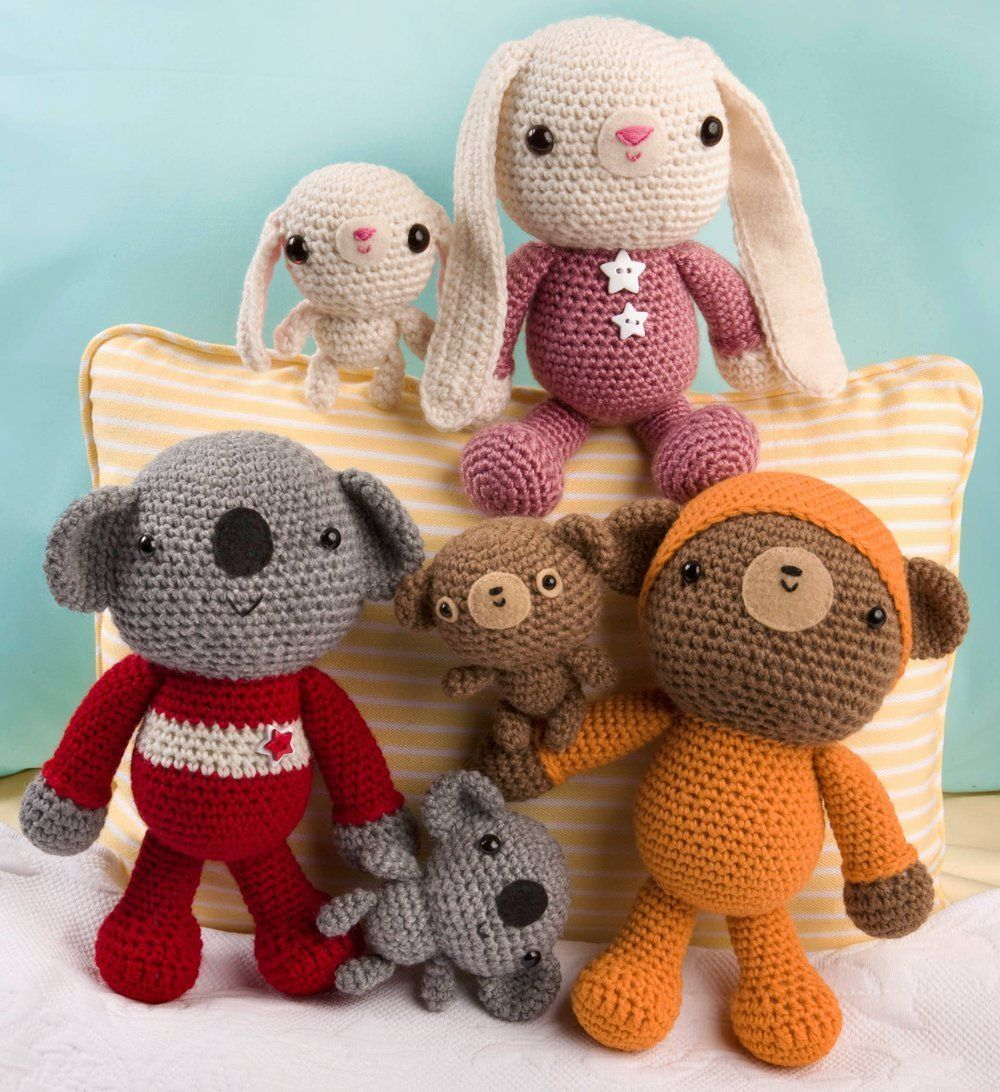 Toys and me images  Amigurumi Two Crocheted Toys for Me and You and Baby Too Ana