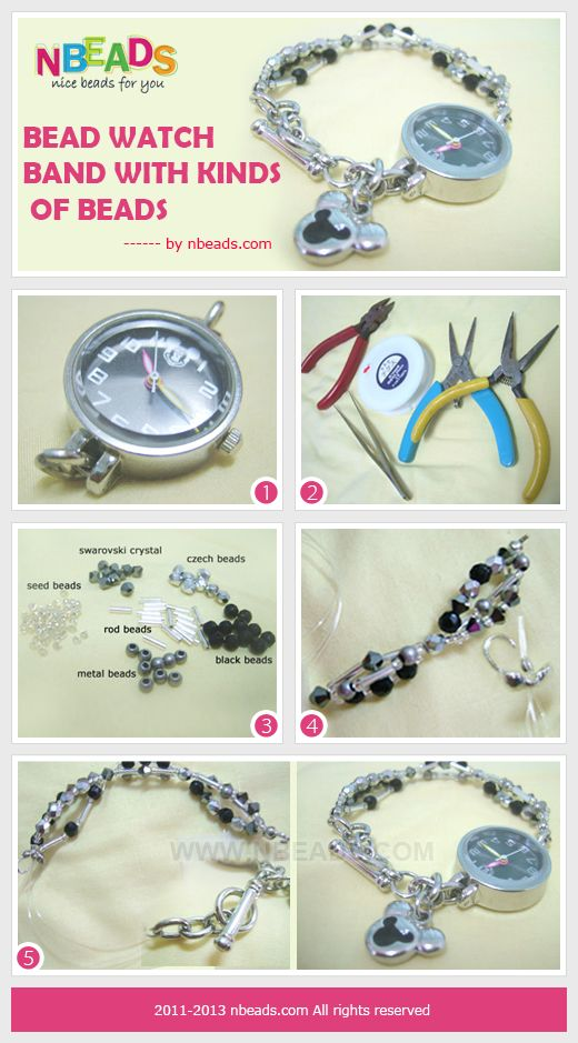 Bead Watch Band With Kinds Of Beads Beaded Watches Accessories