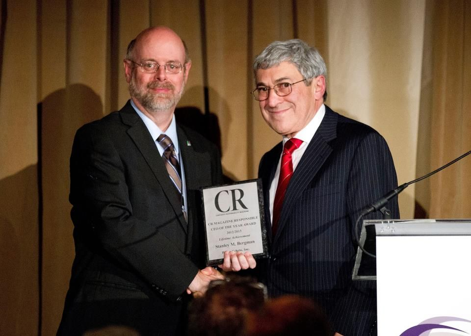 Henry Schein CEO Stanley M. Bergman received the 2012 Corporate Responsibility Lifetime Achievement Award from CR magazine. Read more here: http://hnrysc.hn/UIZalF