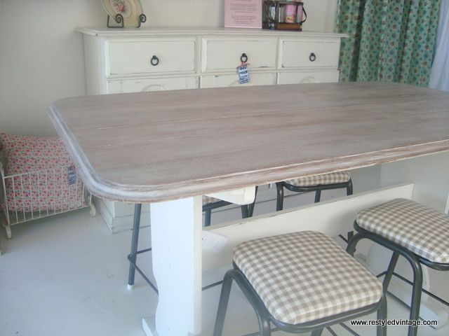 Restyled Vintage Beach Style Furniture great table IT Chalk