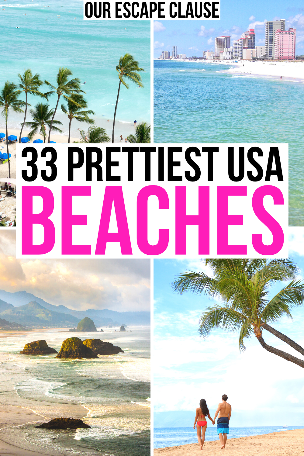 33 Best Beaches In The Usa Us Beach Vacations Beach Vacation Spots Vacations In The Us