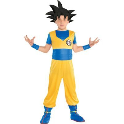 Kids Child Goku Costume – Dragon Ball Super Size L Halloween Multi-Colored