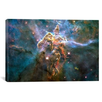 "Mystic Mountain in Carina Nebula (Hubble Space Telescope)' Painting Print on Canvas 40""x60"""