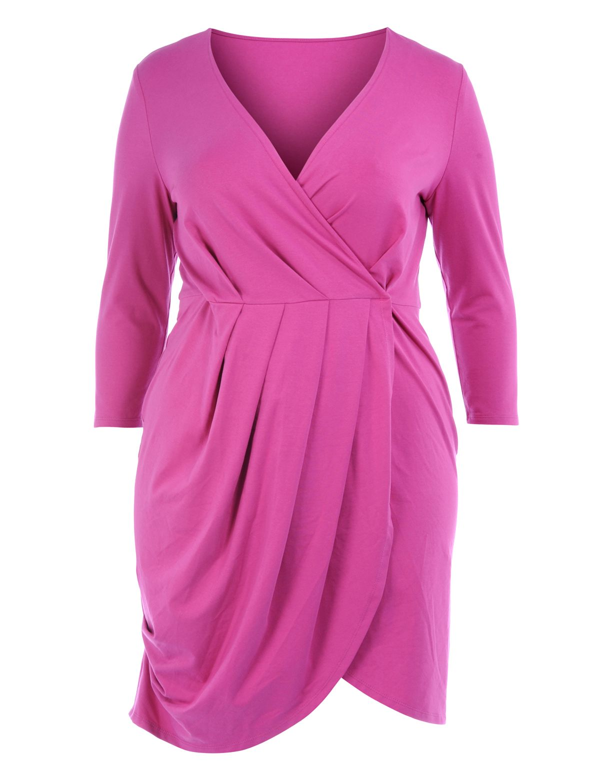 Wrap dress in Hot Pink designed by Manon Baptiste | {STYLE} for ...