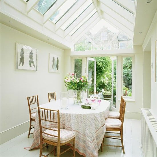 Pitched-roof family dining conservatory | Conservatory dining ...