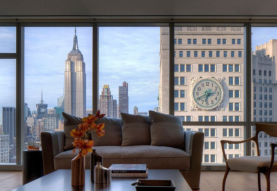 Posh Art Collector S Apartment Dazzles With Incredible Views Of Nyc Skyline