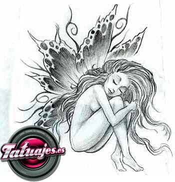 dibujo hadas para tatuar  Buscar con Google  Tatuajes  Pinterest