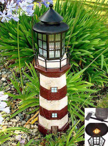 Garden Sunlight C5116b Solar Lighthouse Garden Decor Redivory